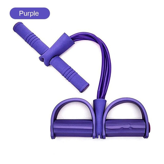 Fitness 4-Tubes Pull Rope Expander Purple