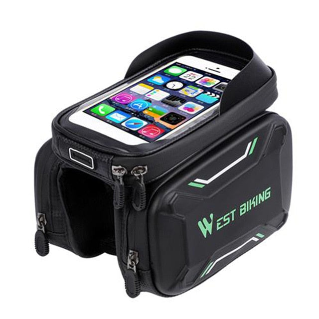 Bicycle Waterproof Screen Touch Top Tube Phone Holder Bag