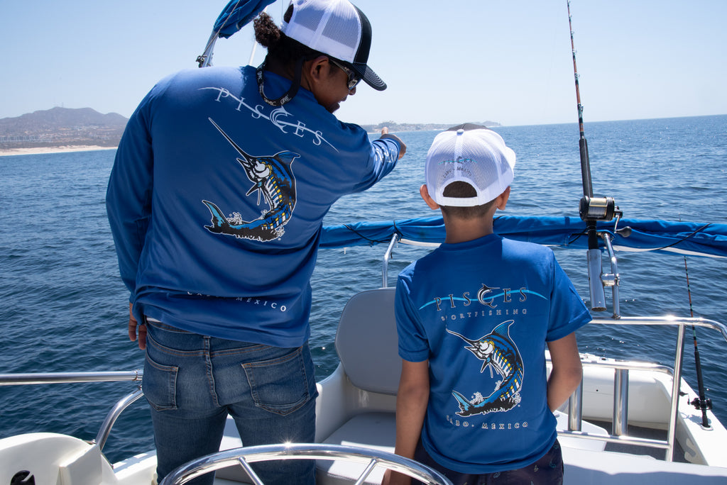 Royal Blue  Sparklin' Marlin Performance Long Sleeve
