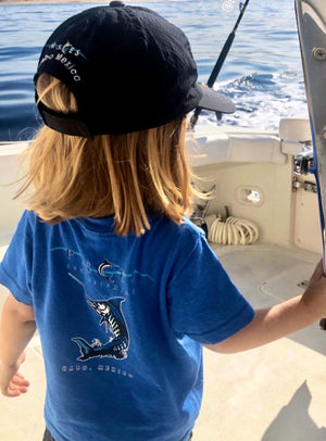 Royal Blue Sparklin' Marlin Toddler Tee