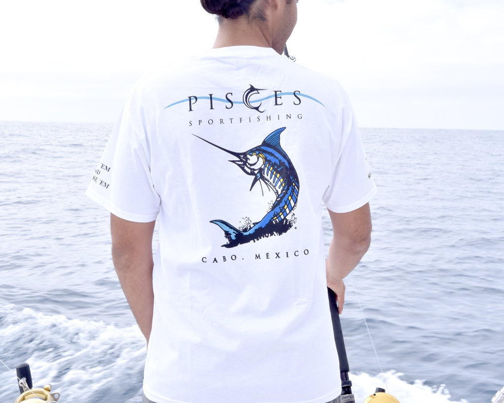 White Reel em' In Cotton T-shirt