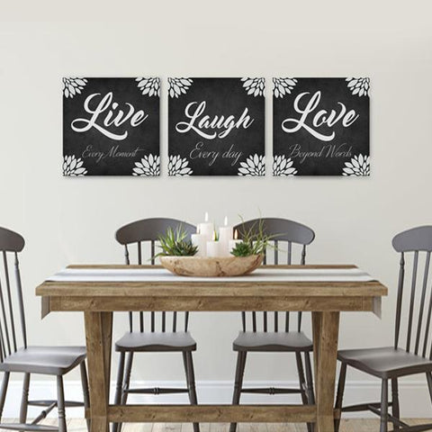 Live Laugh Love Canvas Art Set 03