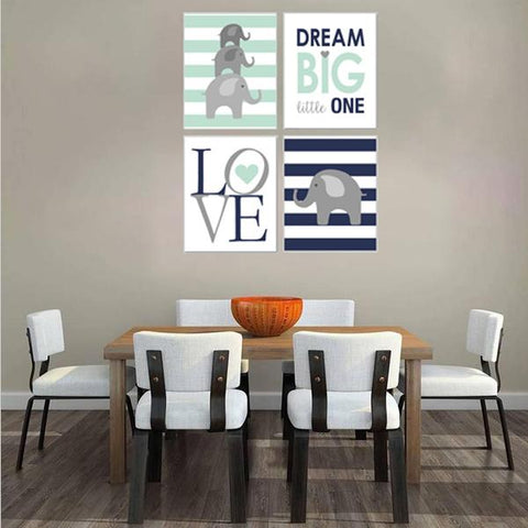 Dream Big Little One Canvas Art Set 03