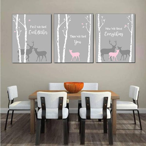 Deer Canvas Art Set 02