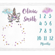 Baby Swaddle Fleece Blanket-Month