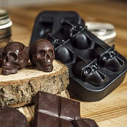 3D Skull Ice Tray - Pack of 2