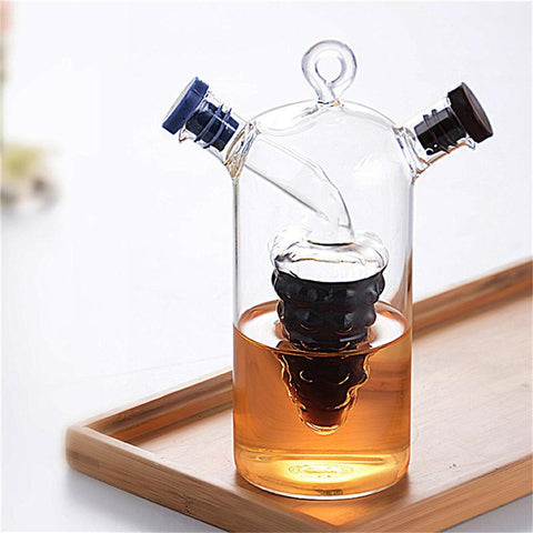 Multi-functional Double Layered Spice Oil Glass
