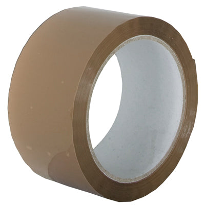 CARTON SEALING TAPE BROWN 48mm x 66m x 25micron