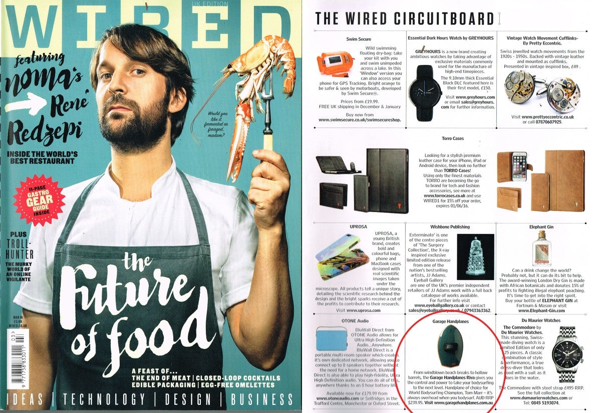Wired UK Magazine March 2016 - Garage Handplanes