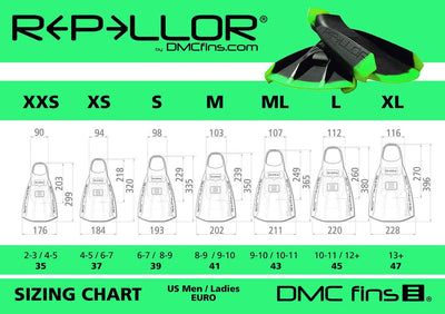 DMC Graphic Series Zebra Repellor Fins