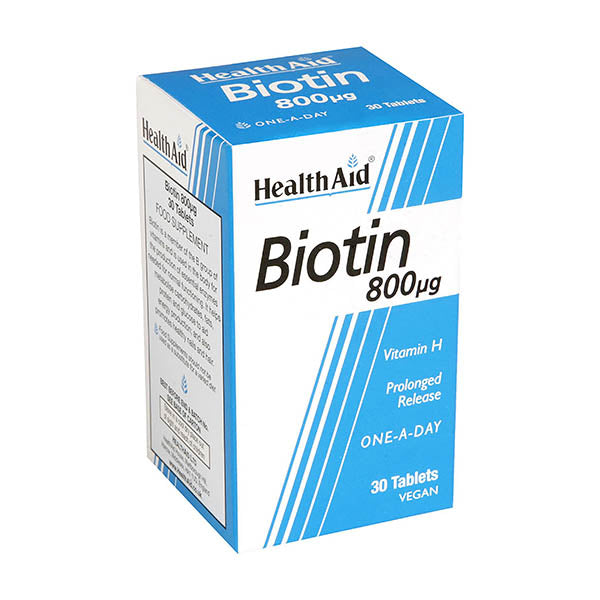 Health Aid Biotin 800mg - 30 Tablets