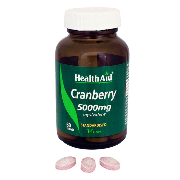 Health Aid Cranberry 5000mg - 60 Tablets