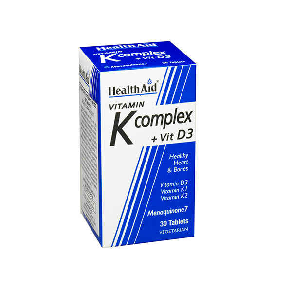 Health Aid Vitamin K  & Vitamin D3 - 30 Tablets