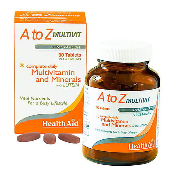 Health Aid A-Z Multivitamins & Minerals - 90 Tablets