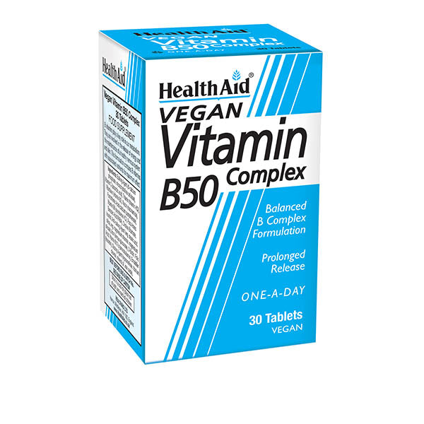 Health Aid Vit B50 Complex - Prolonged Release - 30 Tablets
