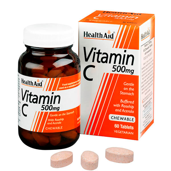 Health Aid Vitamin C 500mg Chewables - 60 Tablets