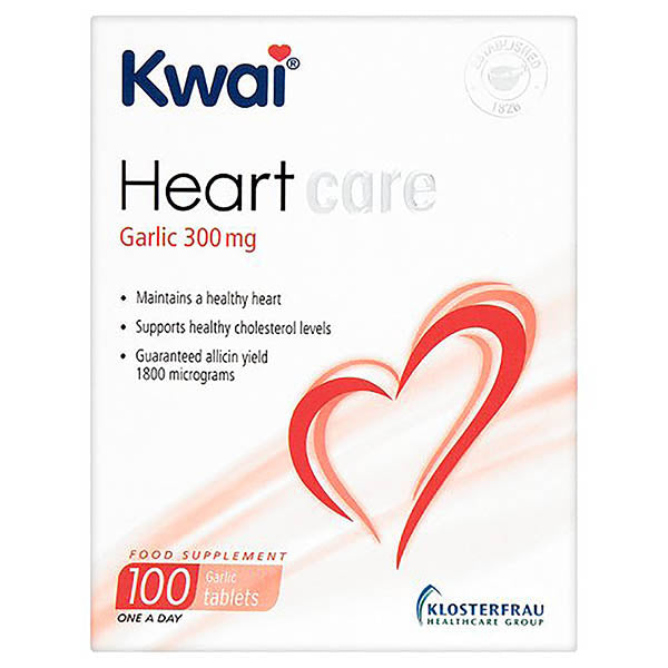 Kwai Heart Care Tablets with Garlic 300mg & Vitamin B1 - 100 Tablets