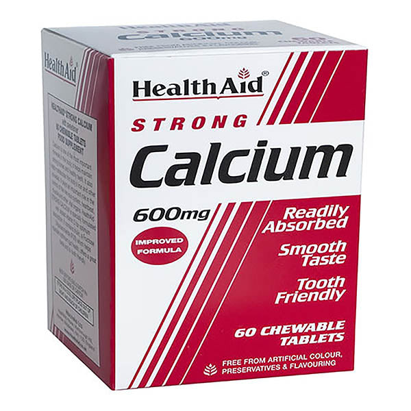 Health Aid Calcium Chewable 600mg - 60 tablets