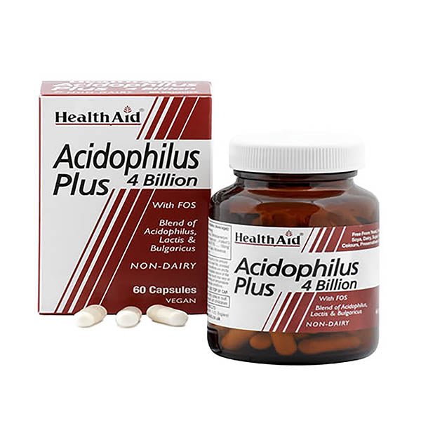 Health Aid Acidophilus Plus - 60 Capsules