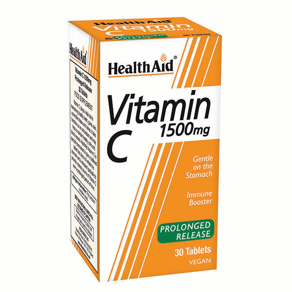 Health Aid Vitamin C 1500mg - Prolonged Release - 30 Tablets