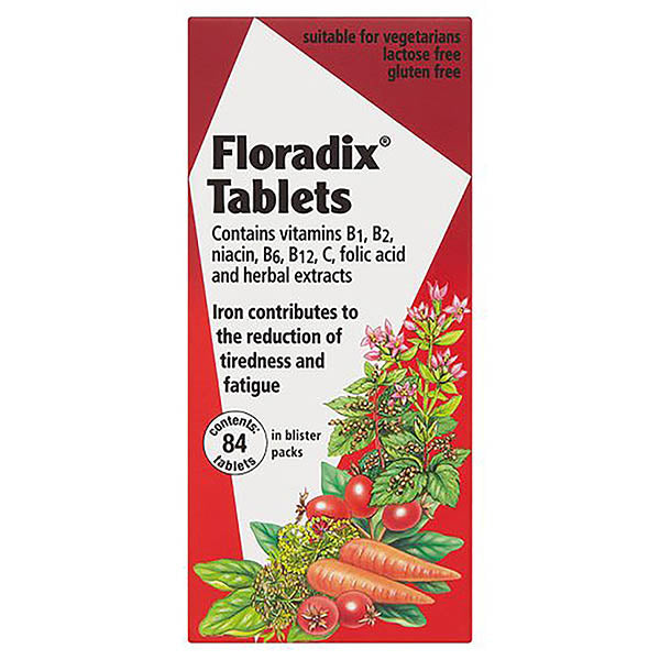 FLORADIX IRON TABLETS 84'S