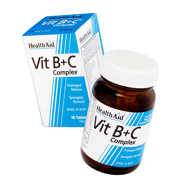 Health Aid Vit B+C Complex - Prolonged Release - 30 tablets