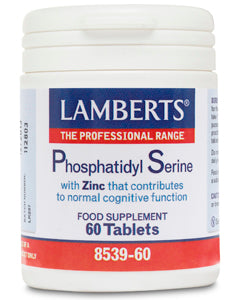 LAMBERTS PHOSPHATIDYL SERINE 100mg WITH ZINC 60 Tablets