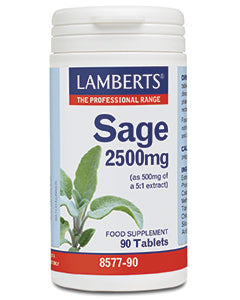 LAMBERTS SAGE 2500mg (2.5% rosmarinic acid) 90 Tablets