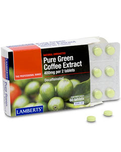 LAMBERTS PURE GREEN COFFEE EXTRACT 400mg 60 Tablets