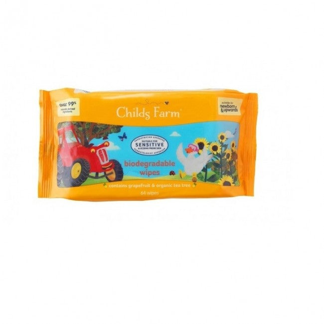Childs Farm Biodegradable Wipes Graprefruit & Teatree (64 wipes)