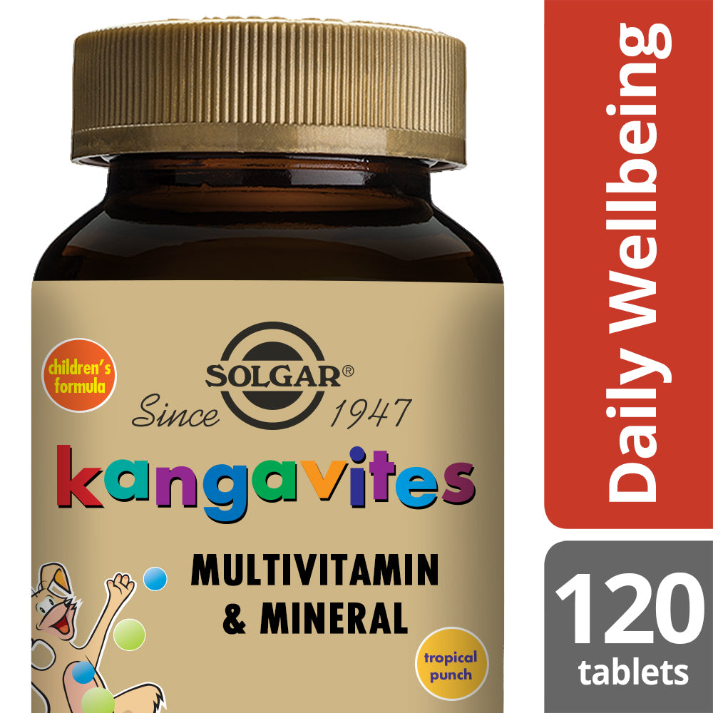 SOLGAR Kangavites® Complete Multivitamin & Mineral  Formula for Children (Tropical Punch)