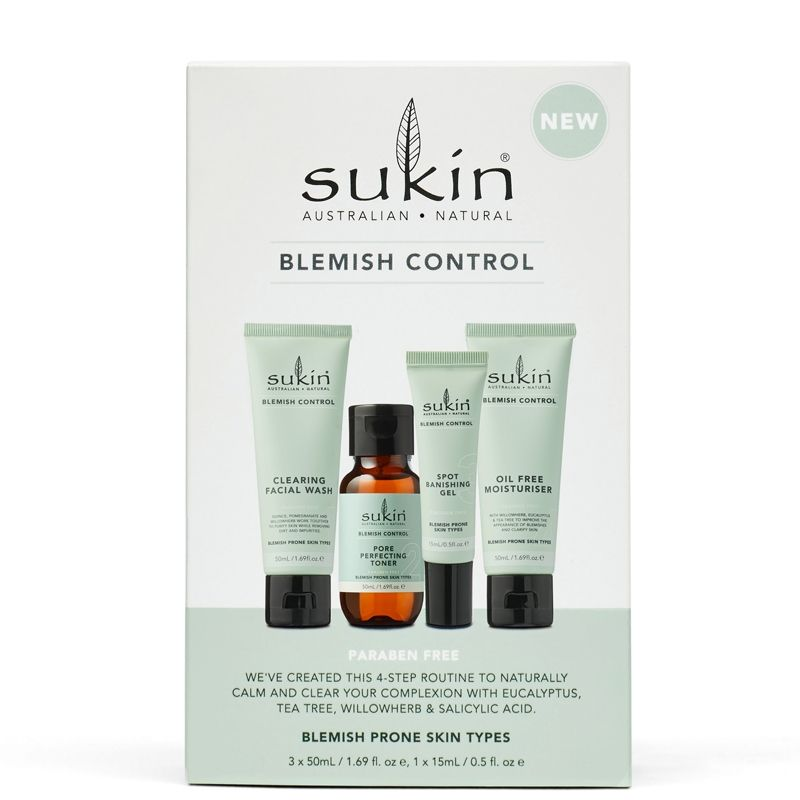 Sukin 4-Step Blemish Control Kit