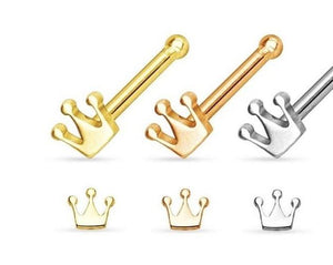 Royalty nose studs