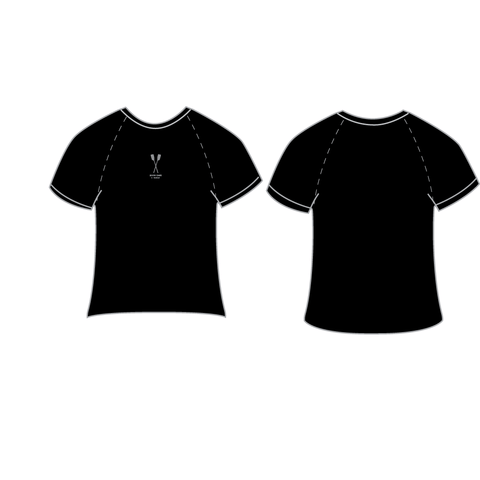 Silver Oars Black Short Sleeves Second Skin