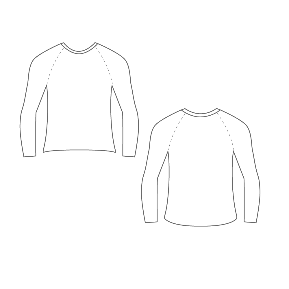 Silver Oars Long Sleeves Summer Second Skin (Discontinued Style)