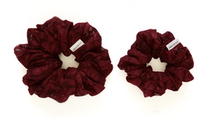 Bungalow Blue Small Scrunchies