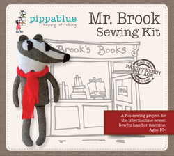 Mr. Brook the badger Sewing Kit -for intermediate sewers