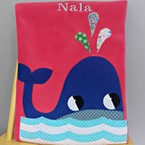 Personalised Baby Blanket - Whale