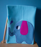 Personalised Baby Blanket - Elephant