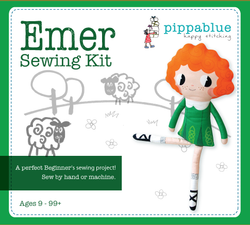 Emer the Irish dancer Sewing Kit -printed fabric