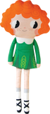 Emer the Irish dancer Sewing Kit - finished doll with red hair and green irish dancing costume