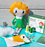 Emer  Cut and Sew Kit -Irish dancer sewing kit. Make your own Irish dancing doll.