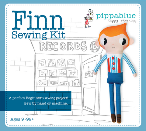 Finn the hipster doll, cut and sew- Sewing Kit