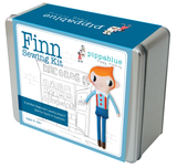 Finn the hipster doll, Sewing Kit in a tin