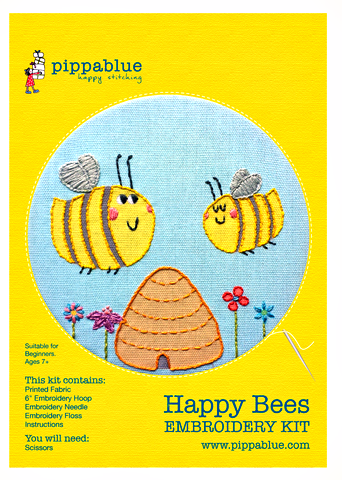 Happy Bees Embroidery Kit -  - 1
