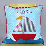 Personalised Cushion - Sail Boat