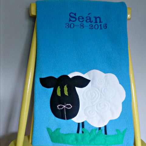 Personalised Baby Blanket - Sheep