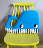 Handmade Big Blue Whale shaped plushie by Pippablue
