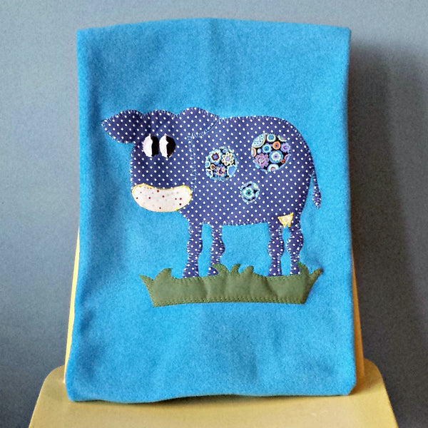 Personalised Baby Blanket - Cow -  - 1