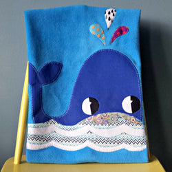 Personalised Baby Blanket - Whale -  - 1